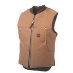 Tough Duck Tough Duck Quilt Lined Vest Brown  1937
