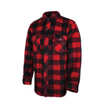 Tough Duck Tough Duck Button Up Solar Fleece Jack Shirt Unlined I96411 Red Plaid