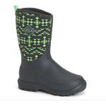 Muck Muck Toddler Elements Winter Boot Glow Green and Grey -30 Comfort KEL-GLO