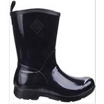 Muck Muck Women's Bergen Mid Black Rubber Boot - WBM-000