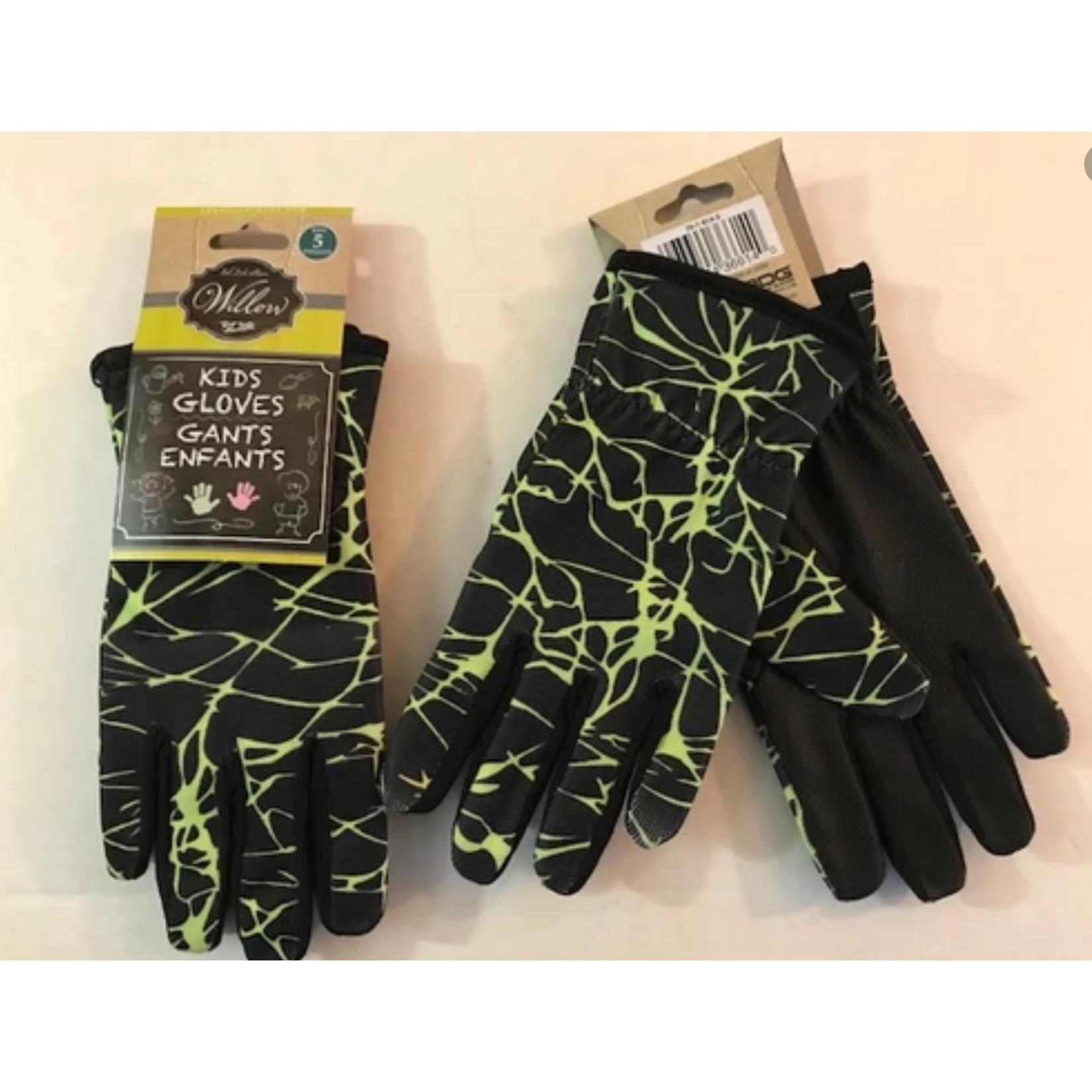 Kids Boys Garden Glove Green/Black 70-1-814