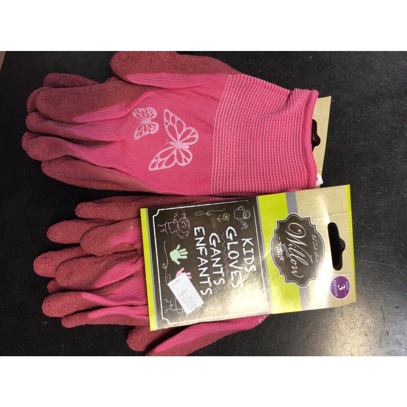 Kids Girls Garden Gloves Pink 70-1-810