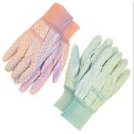 2 Pack Green and Pink Cotton Work Garden Glove 70-1-480