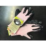 Ladies Work Glove with Extra Grip Pink/Black 70-1-441