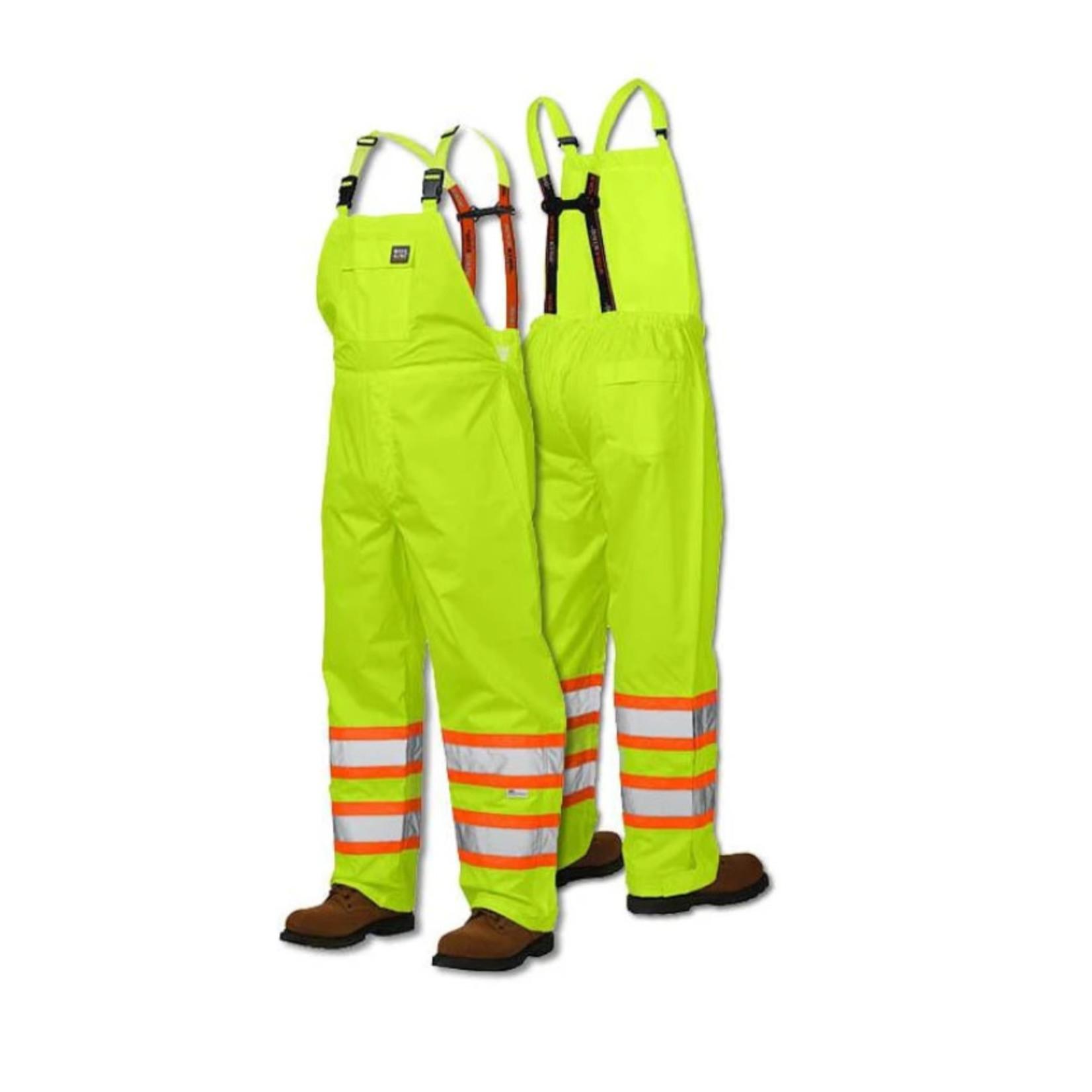Work King Work King Uninsulated Hi-Vis Rain Bib Green S37711