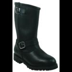 Boulet Boulet Men's Engineer Boot with Back Zipper Black 0143 3E