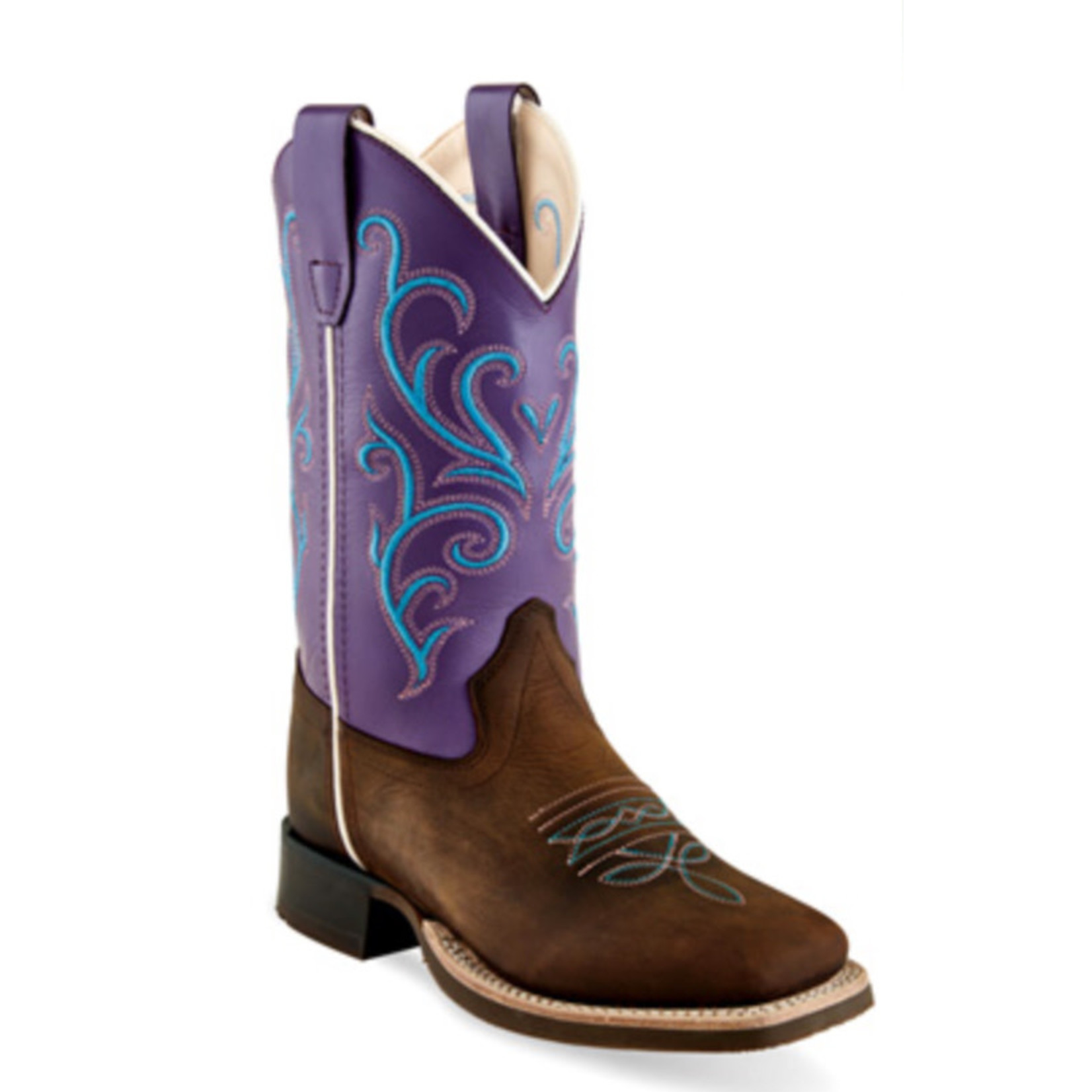 Old west Old West Youth Purple and Blue Square Toe BSY1907