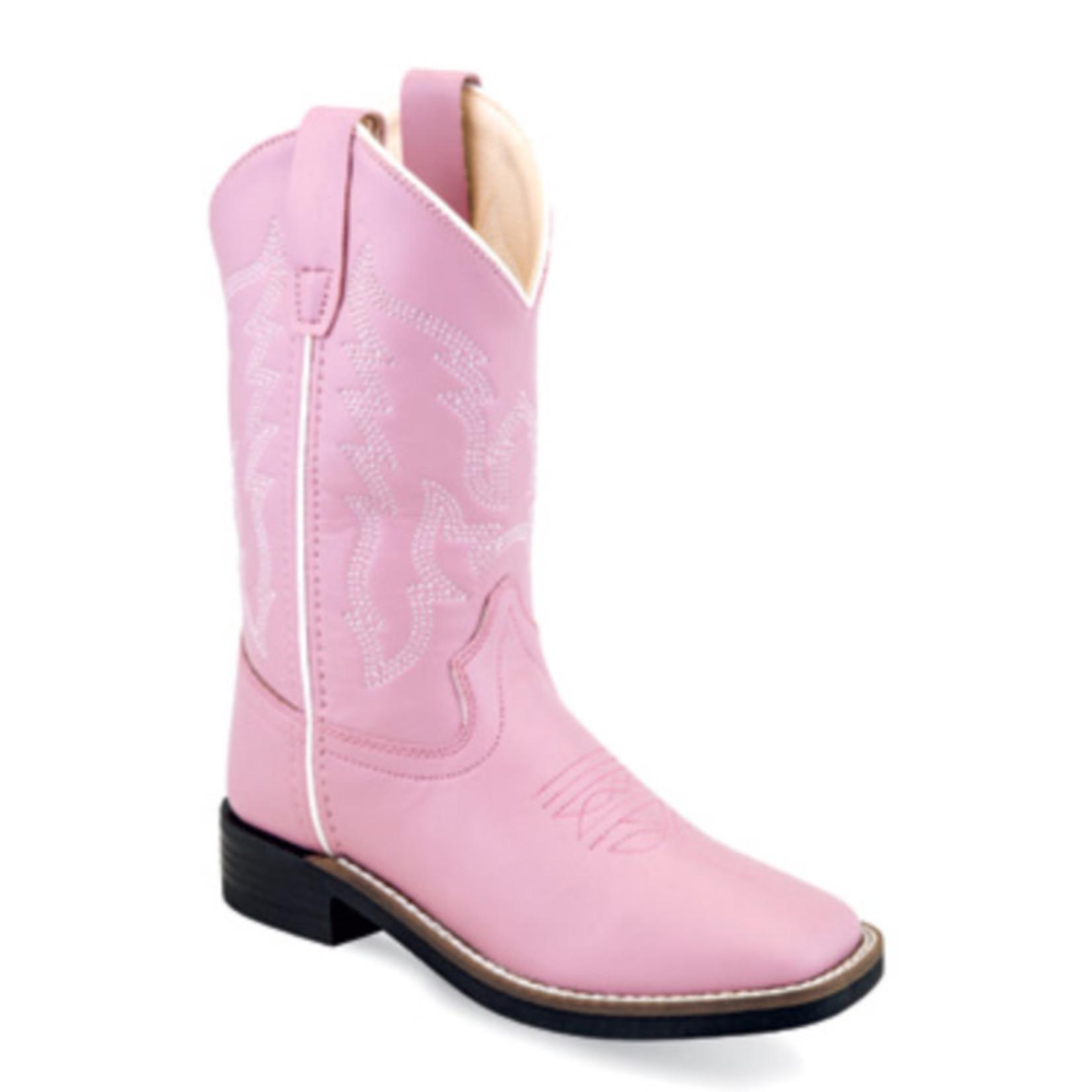 Old west Old West Children Pink Square Toe Western Boot VB9131