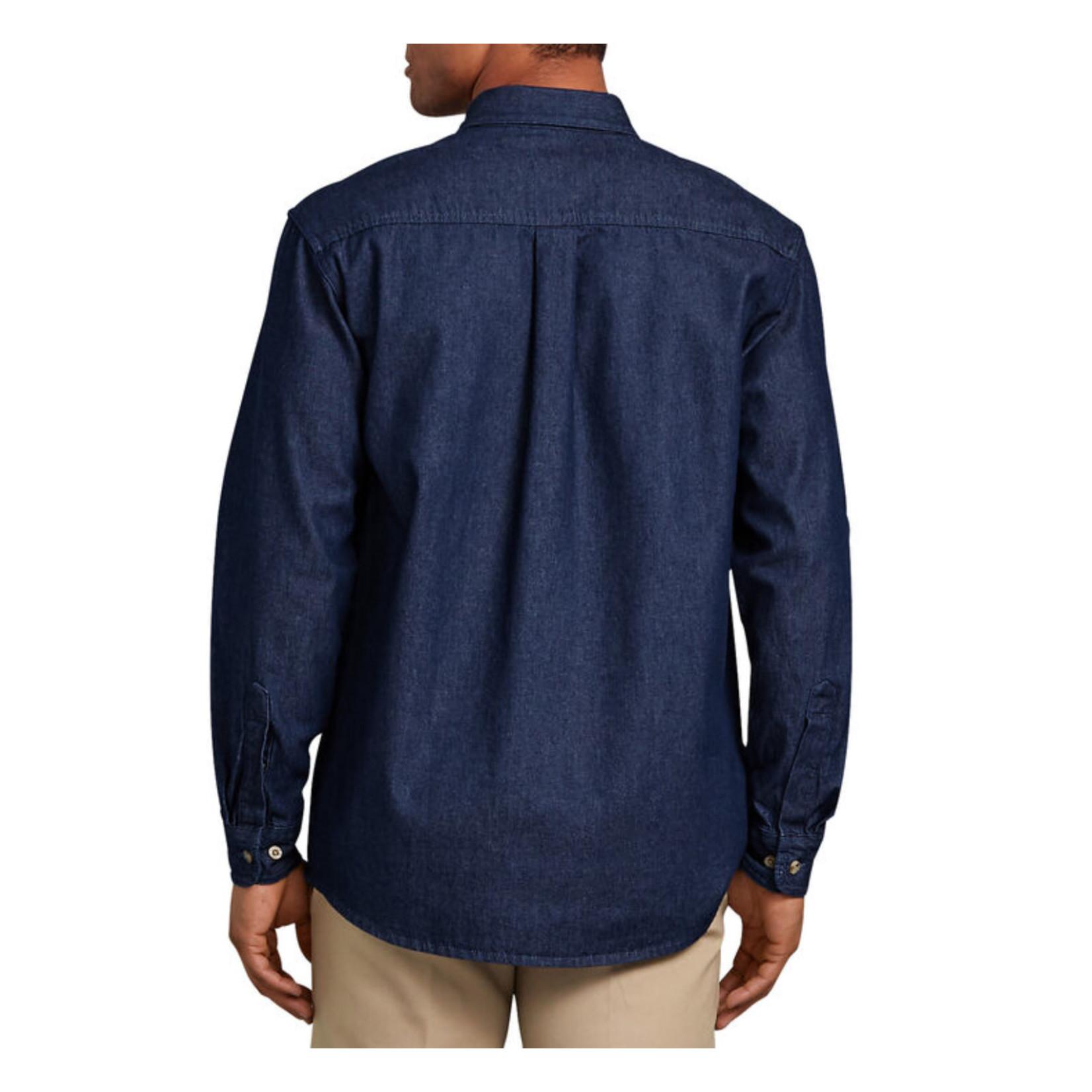 Dickies Dickies Long Sleeve Button-Down Denim Shirt WL300RNB