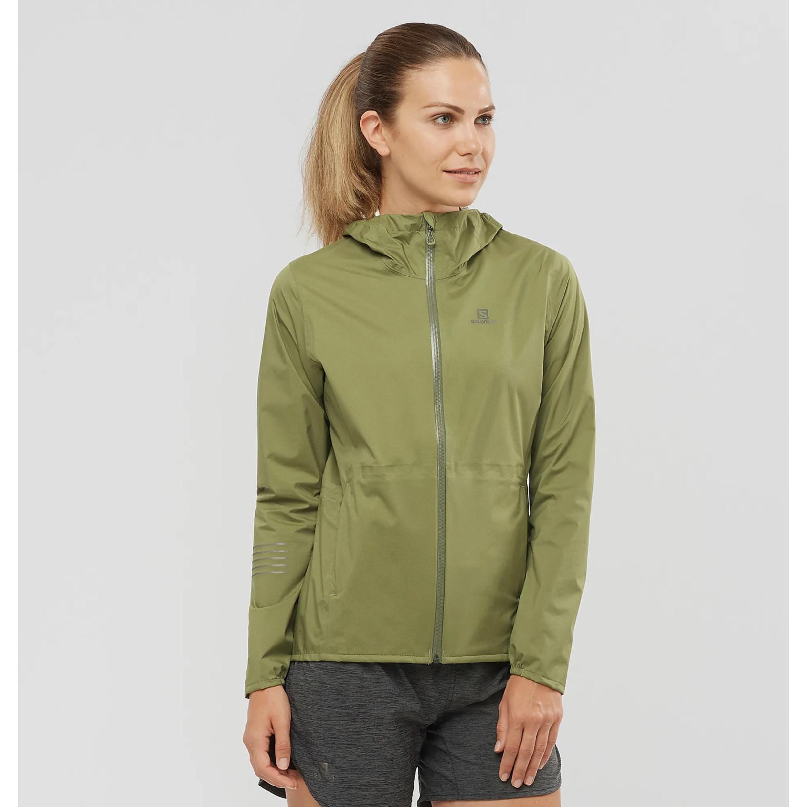Salomon Salomon Women's Lightning Waterproof Jacket - Martini Olive