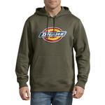 Dickies Dickies Men's Relaxed Fit Logo Fleece Pullover Hoodie - Green TW45A