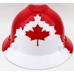 MSA Red Canada Strong Full Brim Hard Hat