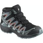 Salomon Salomon XA Pro 3D Mid CSWP J Shoes - Youth - Black/Cherry Tomato