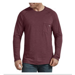 Dickies Dickies Men Cooling Temp-iQ Burgundy Performance Long Sleeve Shirt SL600BYH