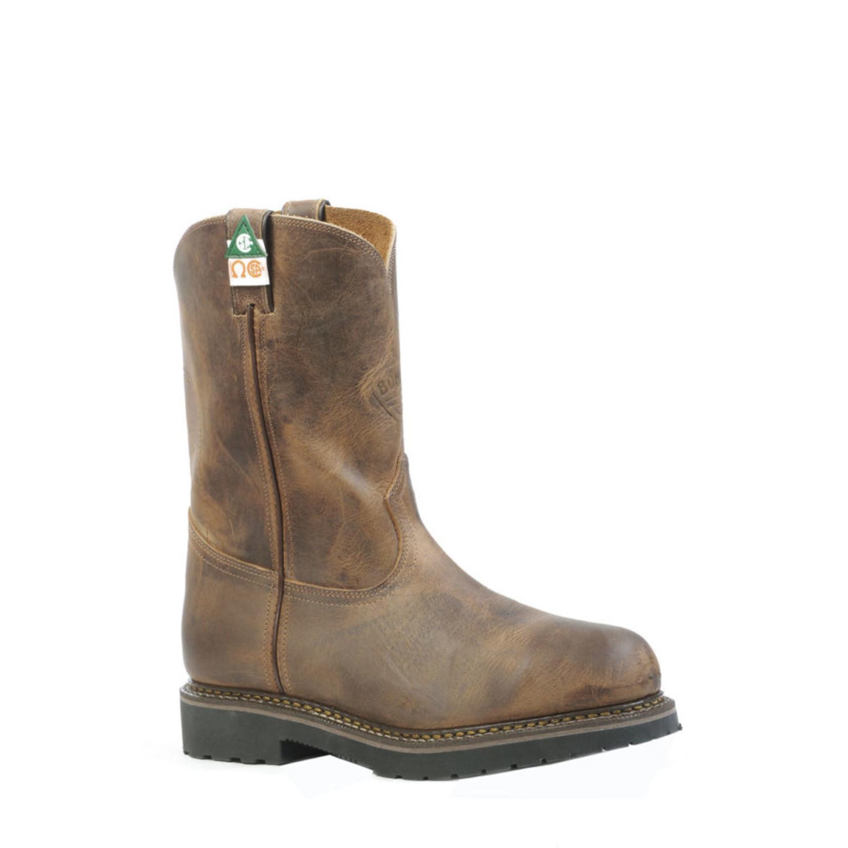 """Boulet Boulet Mens 10"""" HillBilly Golden CSA Steel toe boot 4381 3E"""