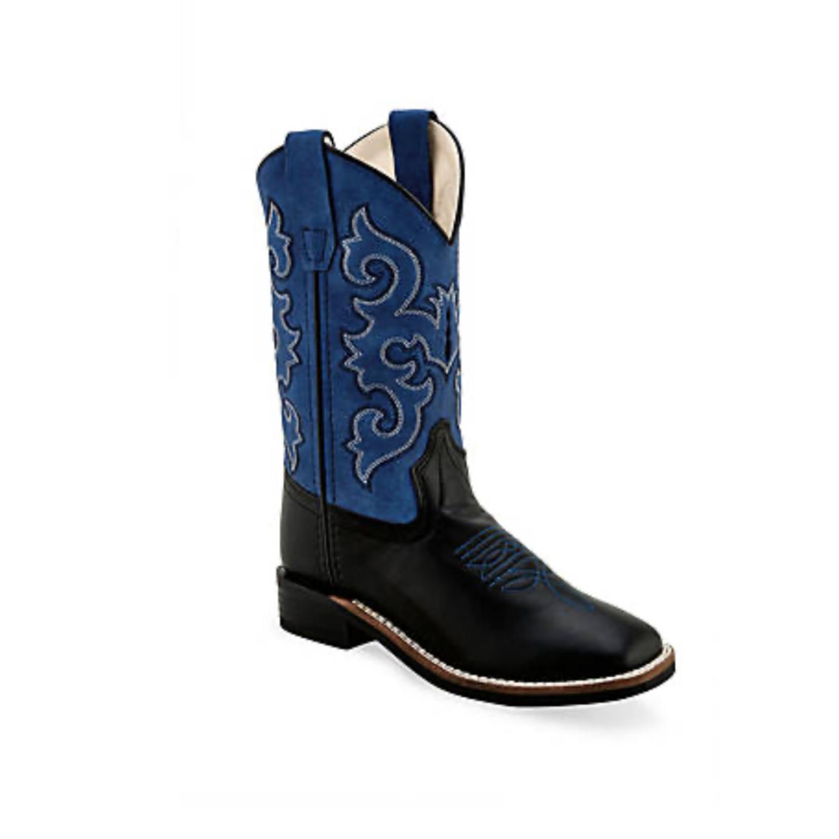 Old west Old West Blue / Black YOUTH Cowboy Boot VB9137