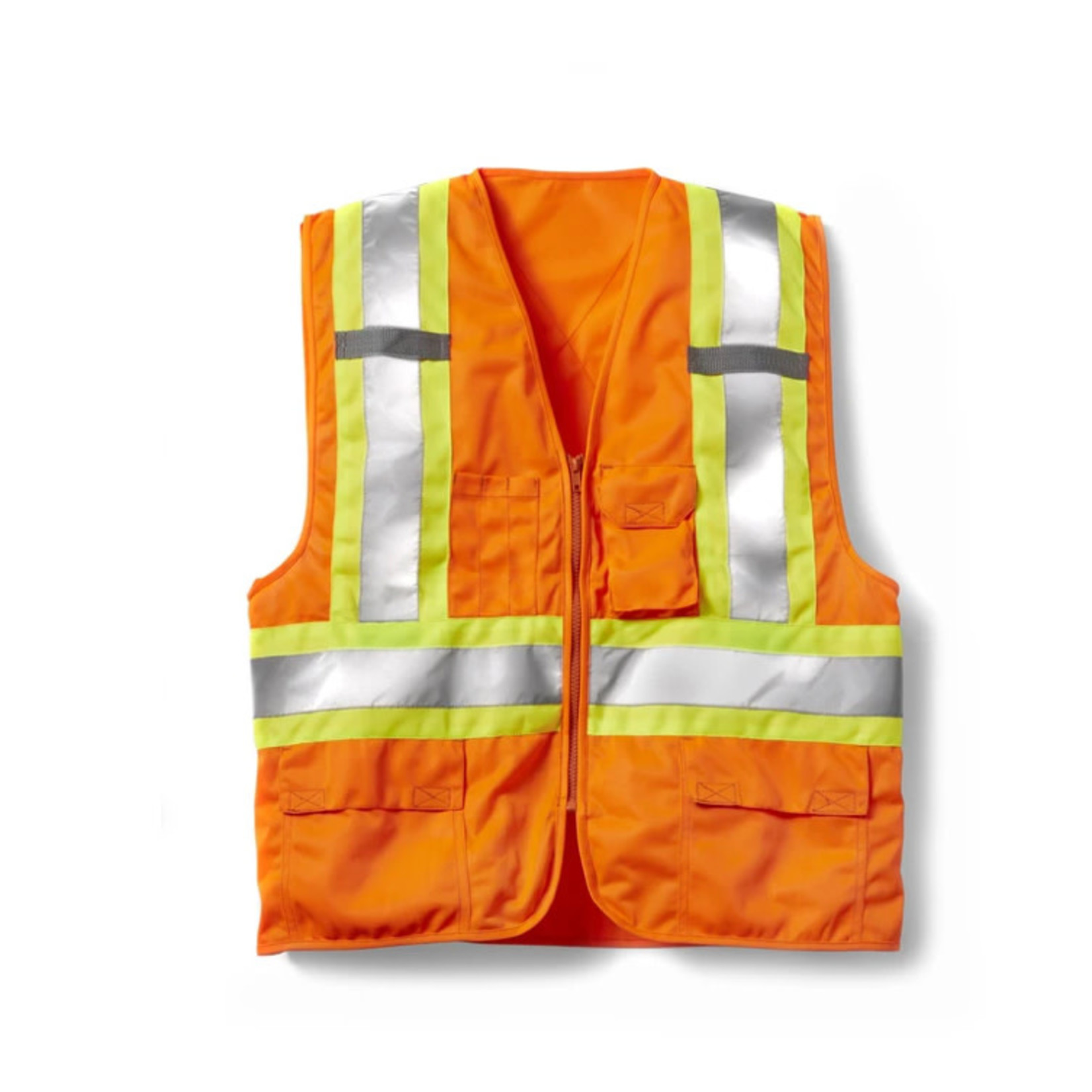 Rasco HV0050H Rasco Hi Vis Orange  Safety Vest Zip Front 100% Polyester