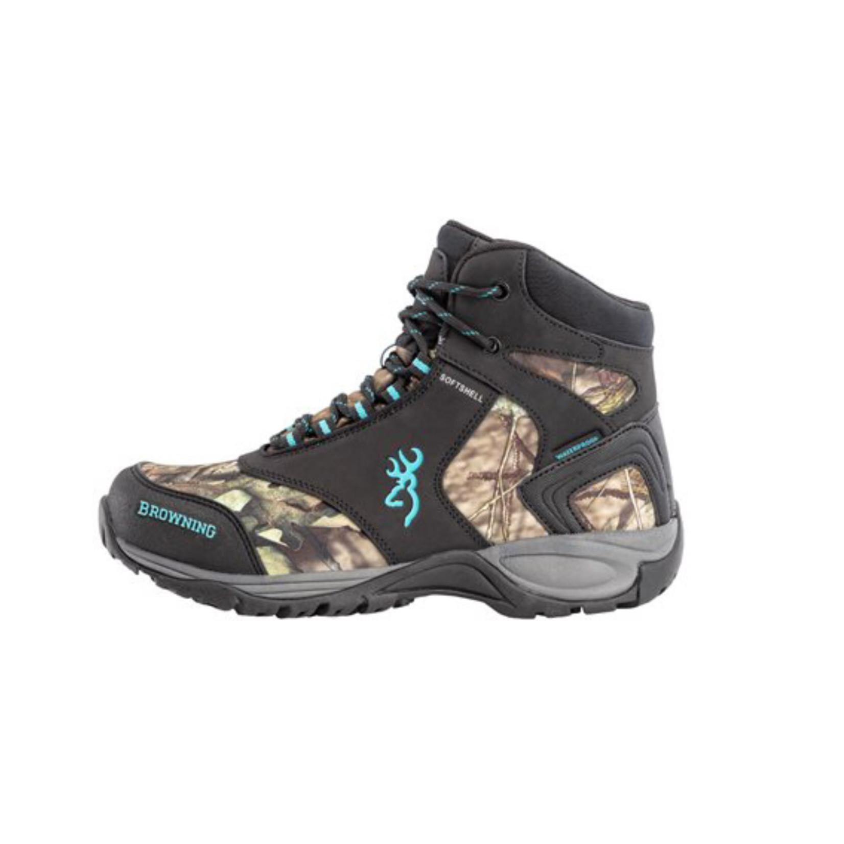 Sportchief Browning Women's Plainsman Mid Mossy Oak Waterproof  Hunting Boot 538016-615
