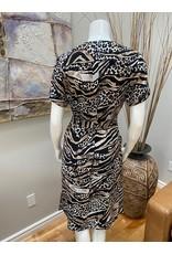 Carré Noir Short Sleeve Dress