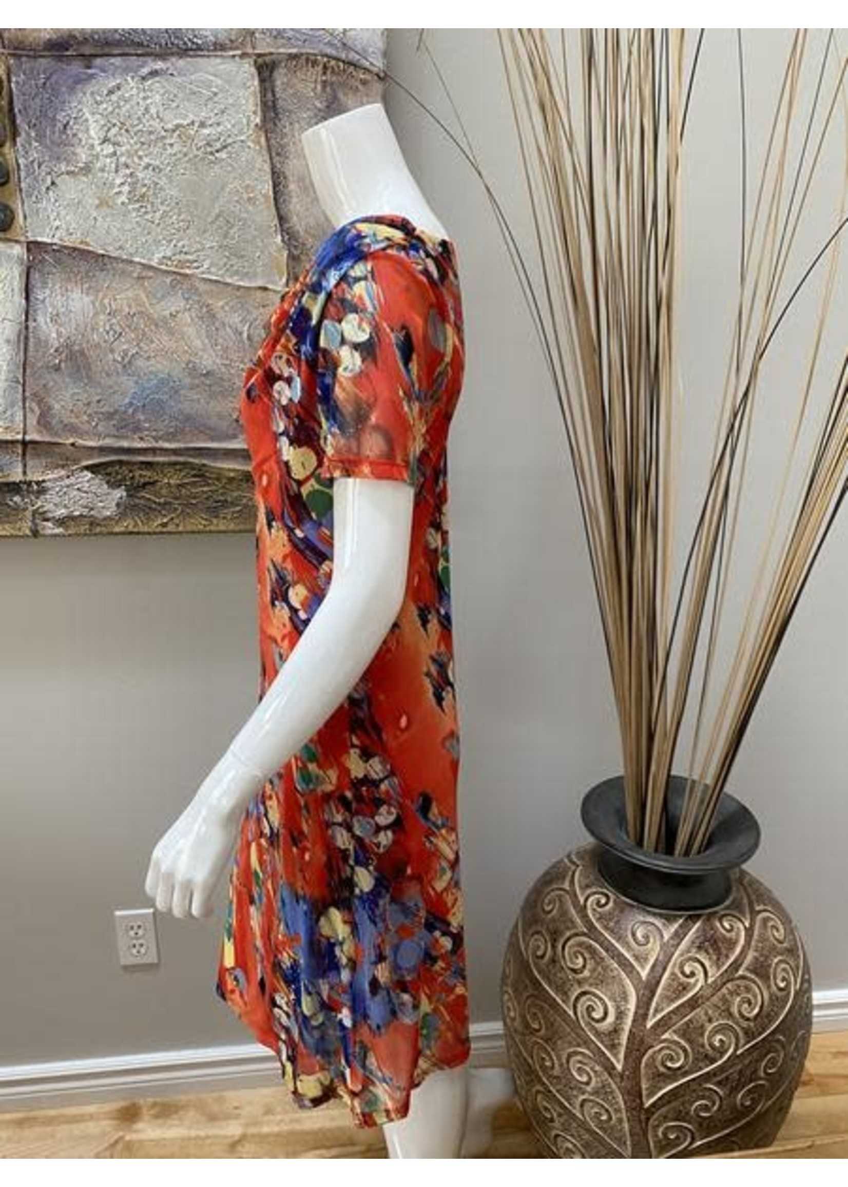 Elena Wang Short Sleeve Dress
