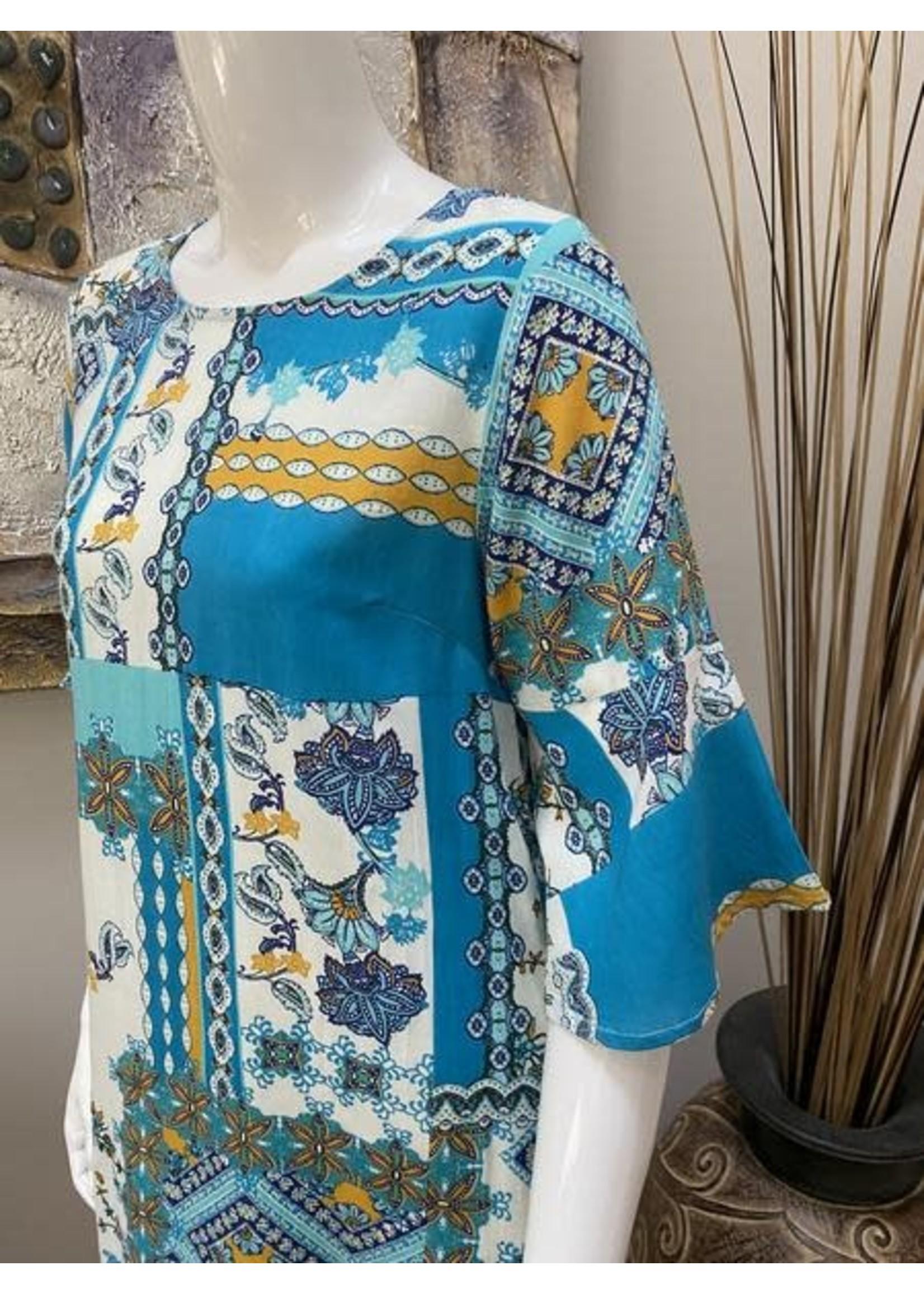 Orientique 3/4 Sleeve Dress