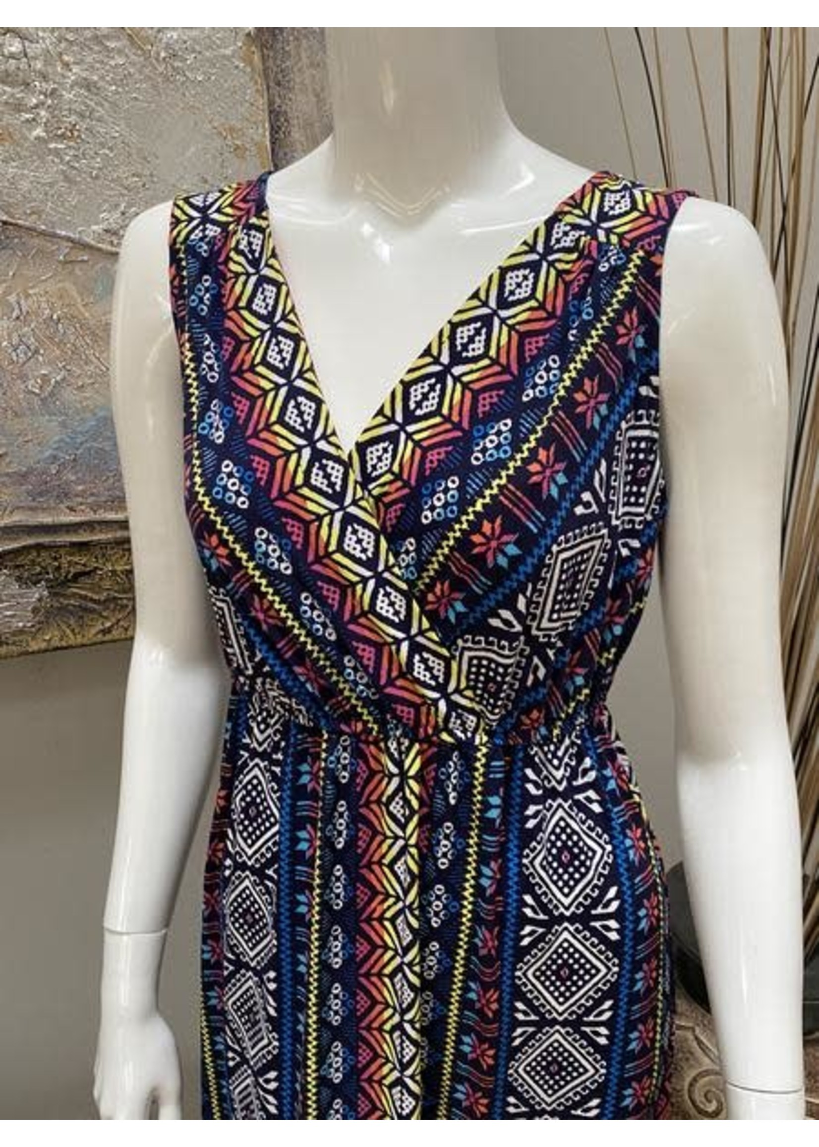Tribal Sleeveless Dress