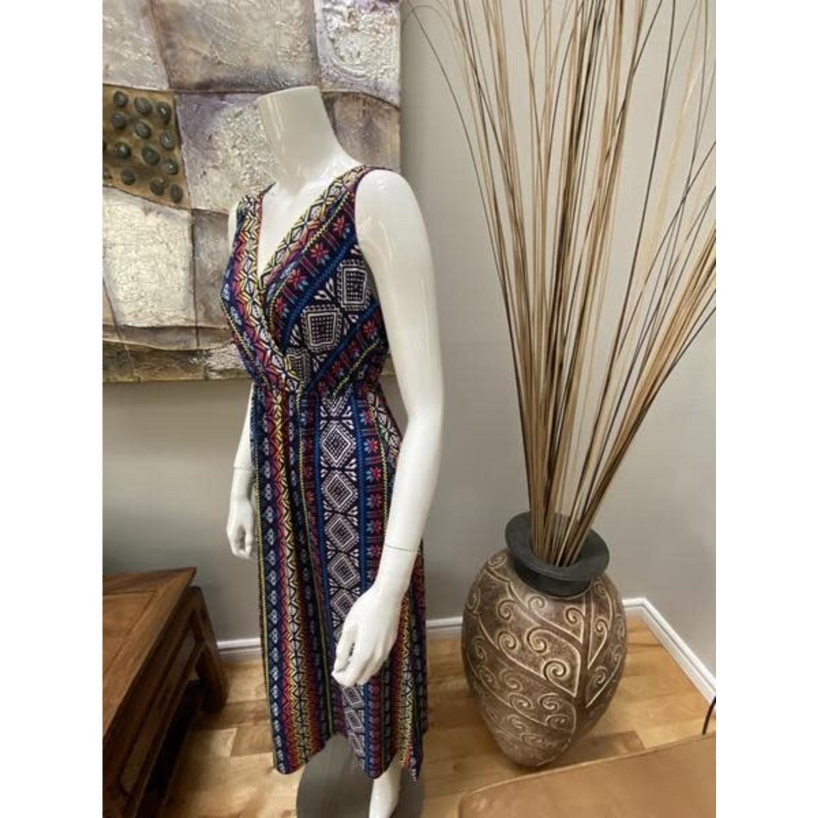 Tribal Sleeveless Dress