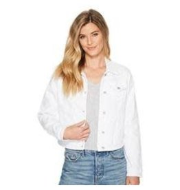 Tribal Tribal White Jean Jacket