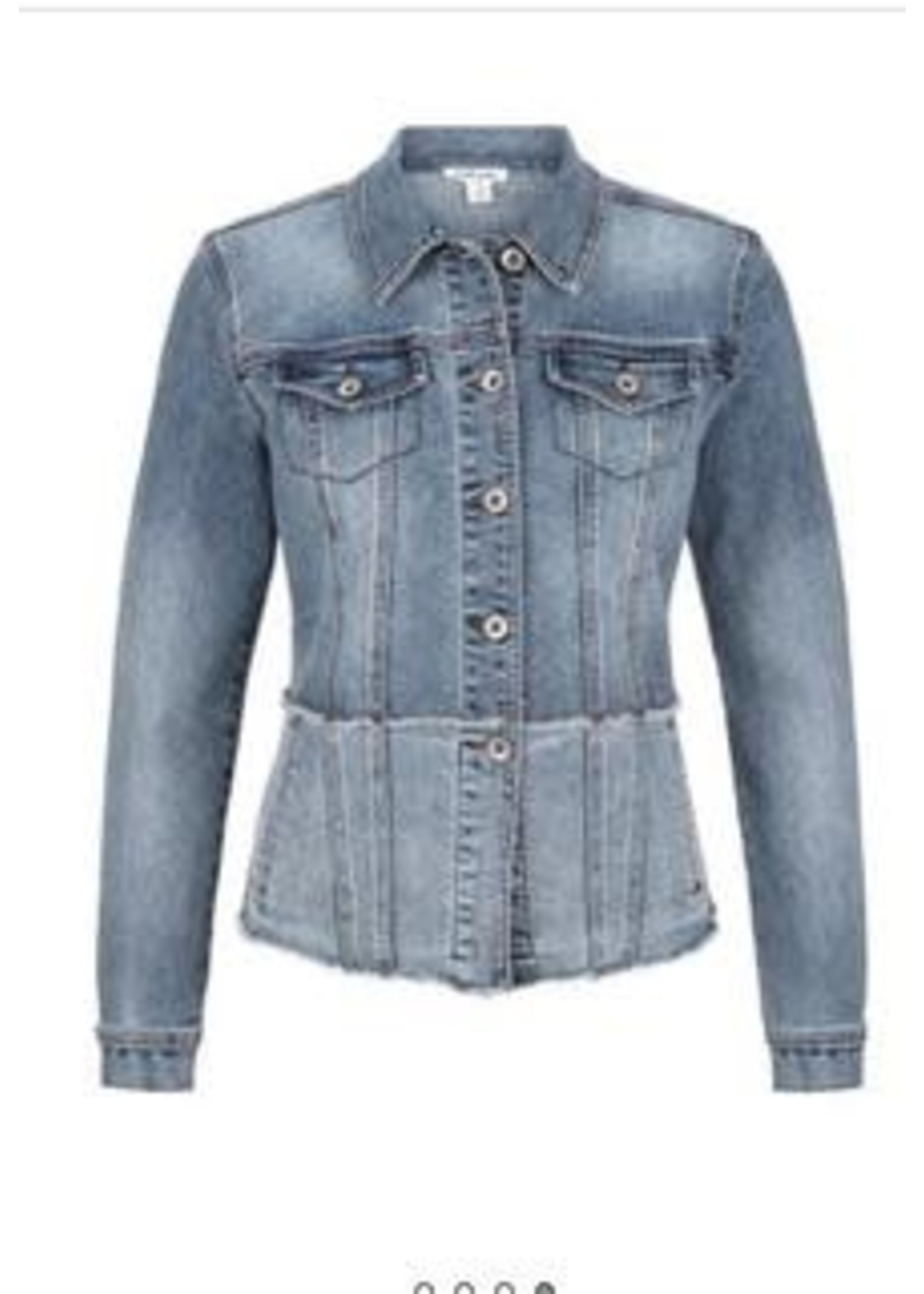 Tribal Tribal Frayed Jean jacket