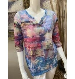 FDJ Multi-Colored Blouse