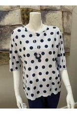 Pure Essence Polka Dot Top With Necklace