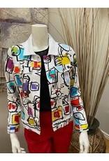 Dolcezza Dolcezza White Printed Jacket