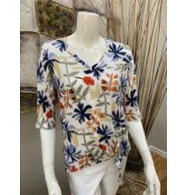 Pure Essence Floral V Neck
