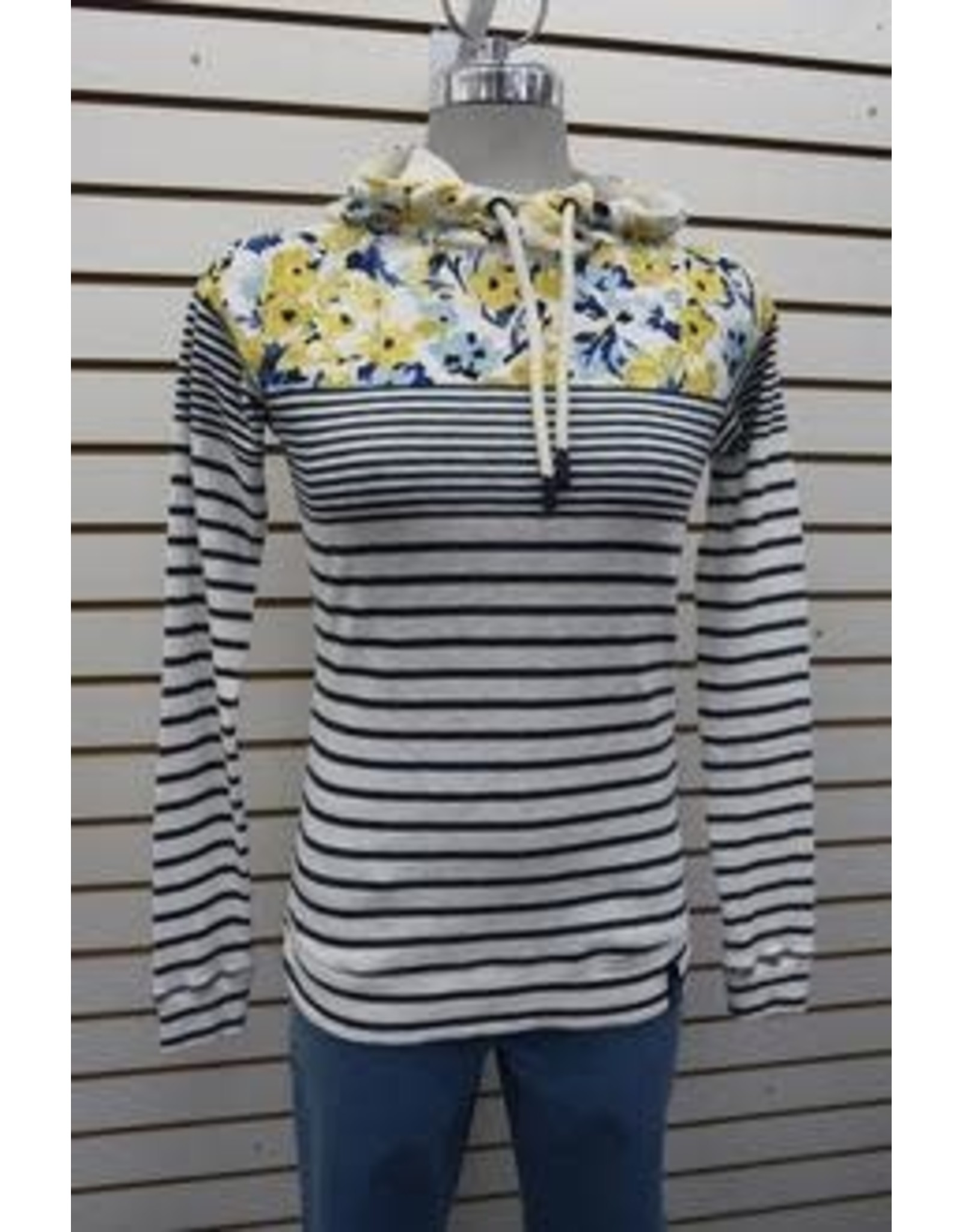 Joules Stripped Hooded Sweater