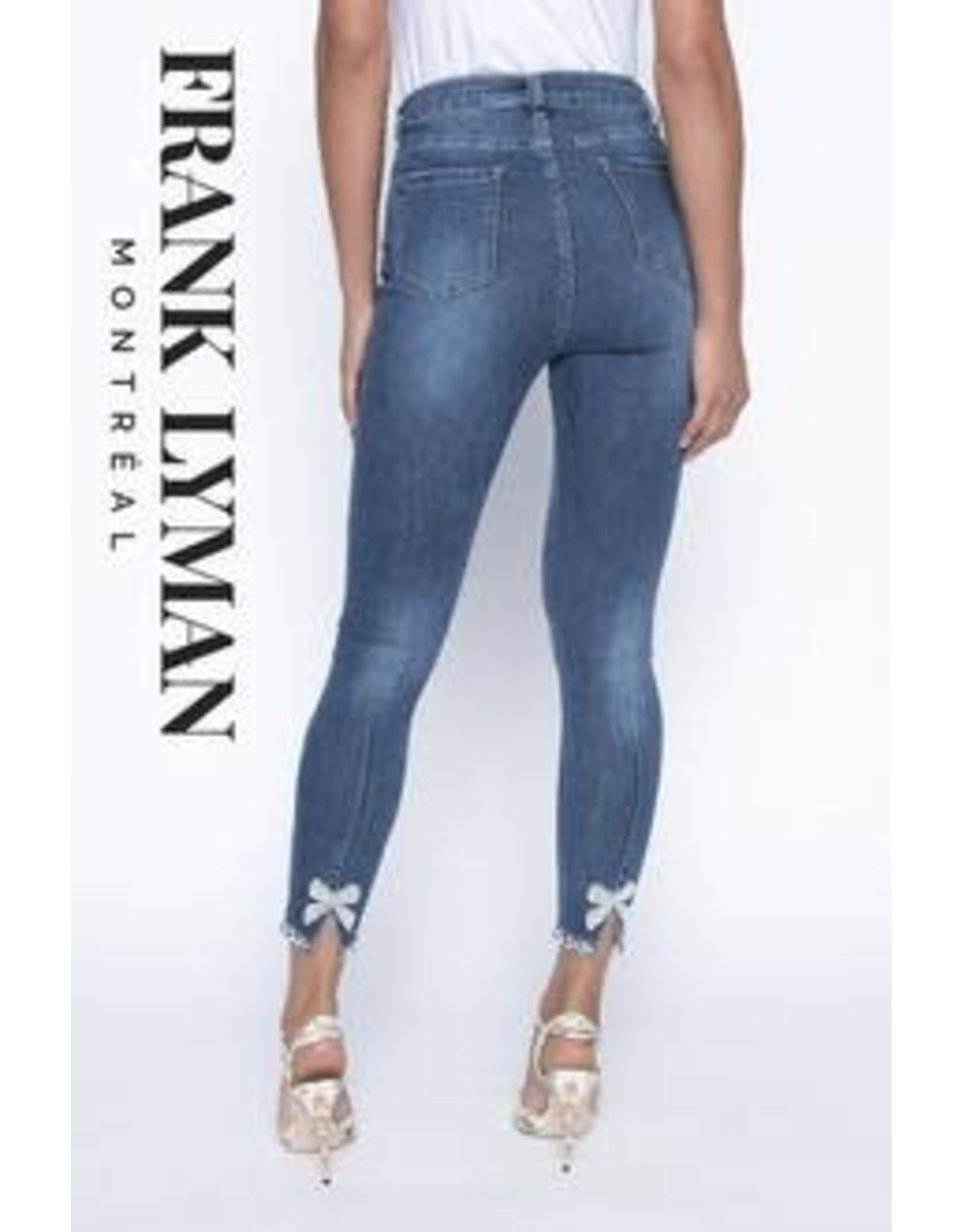Frank Lyman Stretch Jean With Pearl & Bow Detail