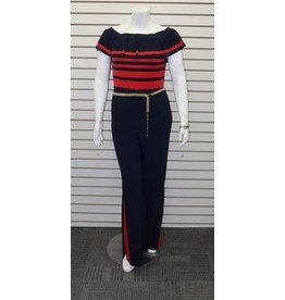 Frank Lyman Short Sleeve Jumpsuit