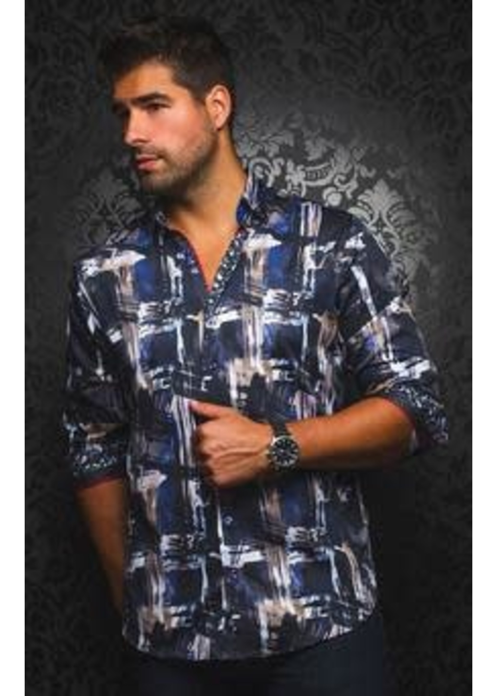 Au Noir Long Sleeve Collared Shirt