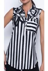 Frank Lyman Black/Off White Knit Top