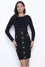 Frank Lyman Black/Gold Knit Dress