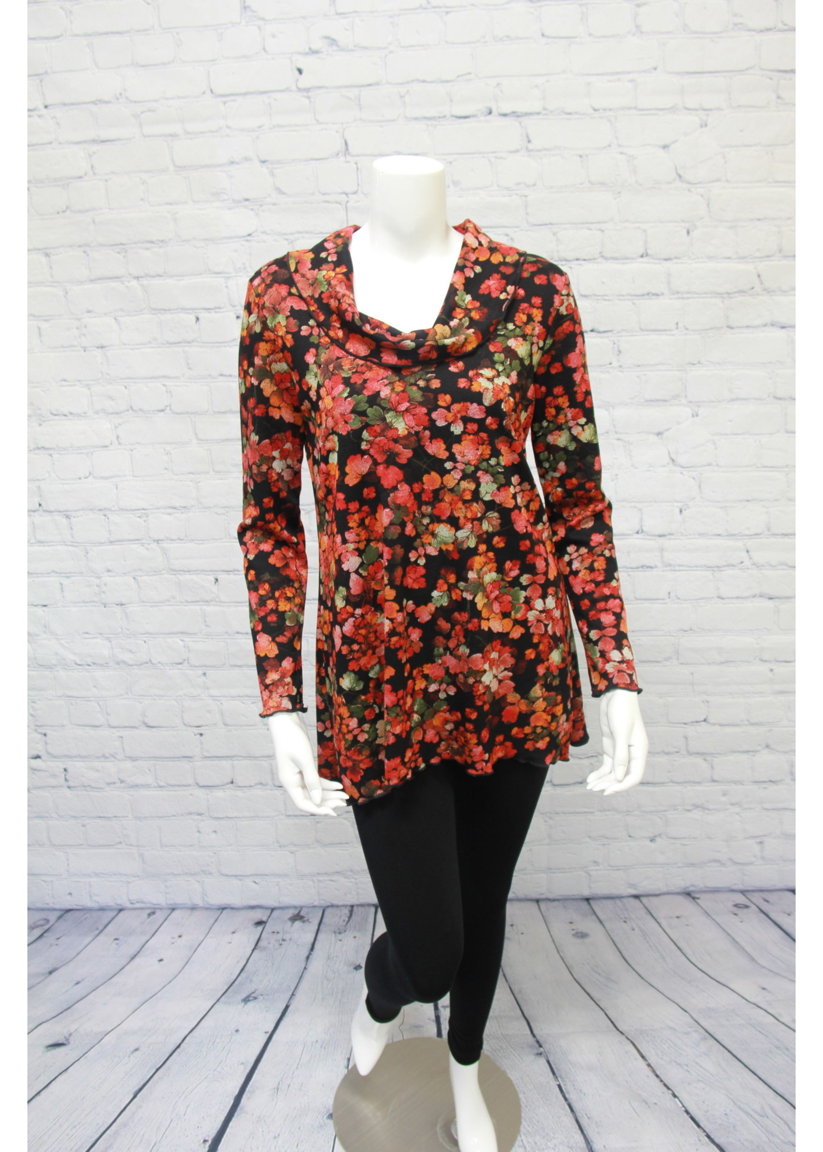 Pure Essence Persimmon Floral Tunic