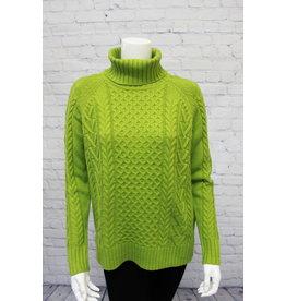 Alison Sheri Cable Knit T-Neck 2 COLORS