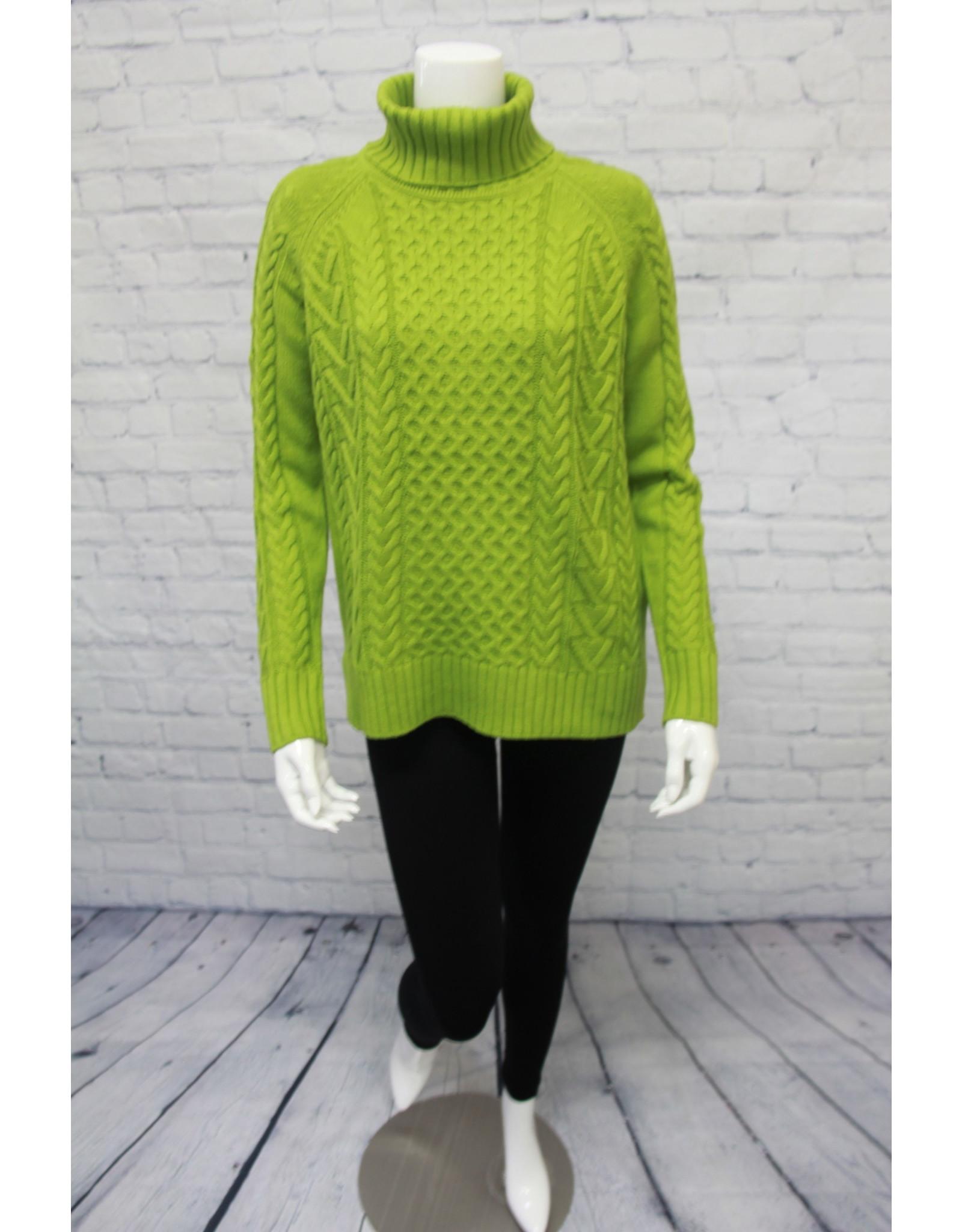 Alison Sheri Cable Knit T-Neck