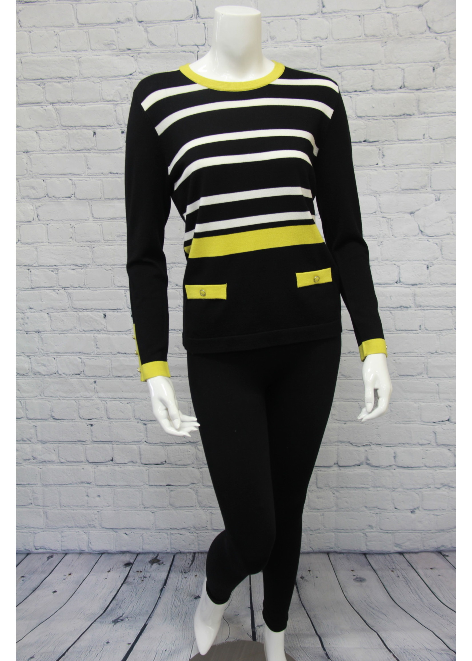 Marble Striped Sweater