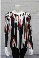 Printed Sweater Red/Black