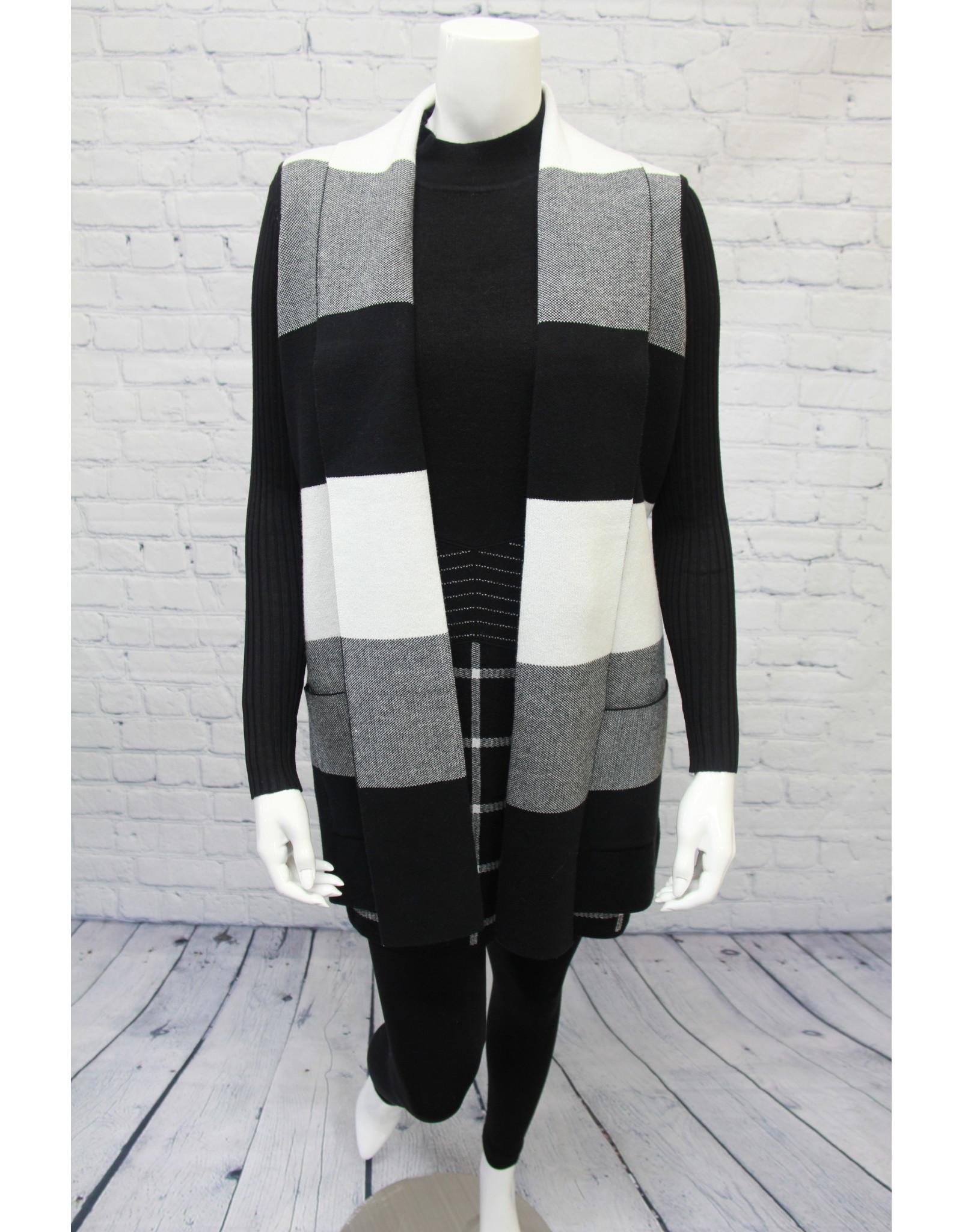 Marble Black/White Vest