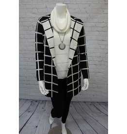 Elena Wang Black & White Cardigan