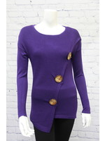 Marble Big Button Sweater 2 Colors
