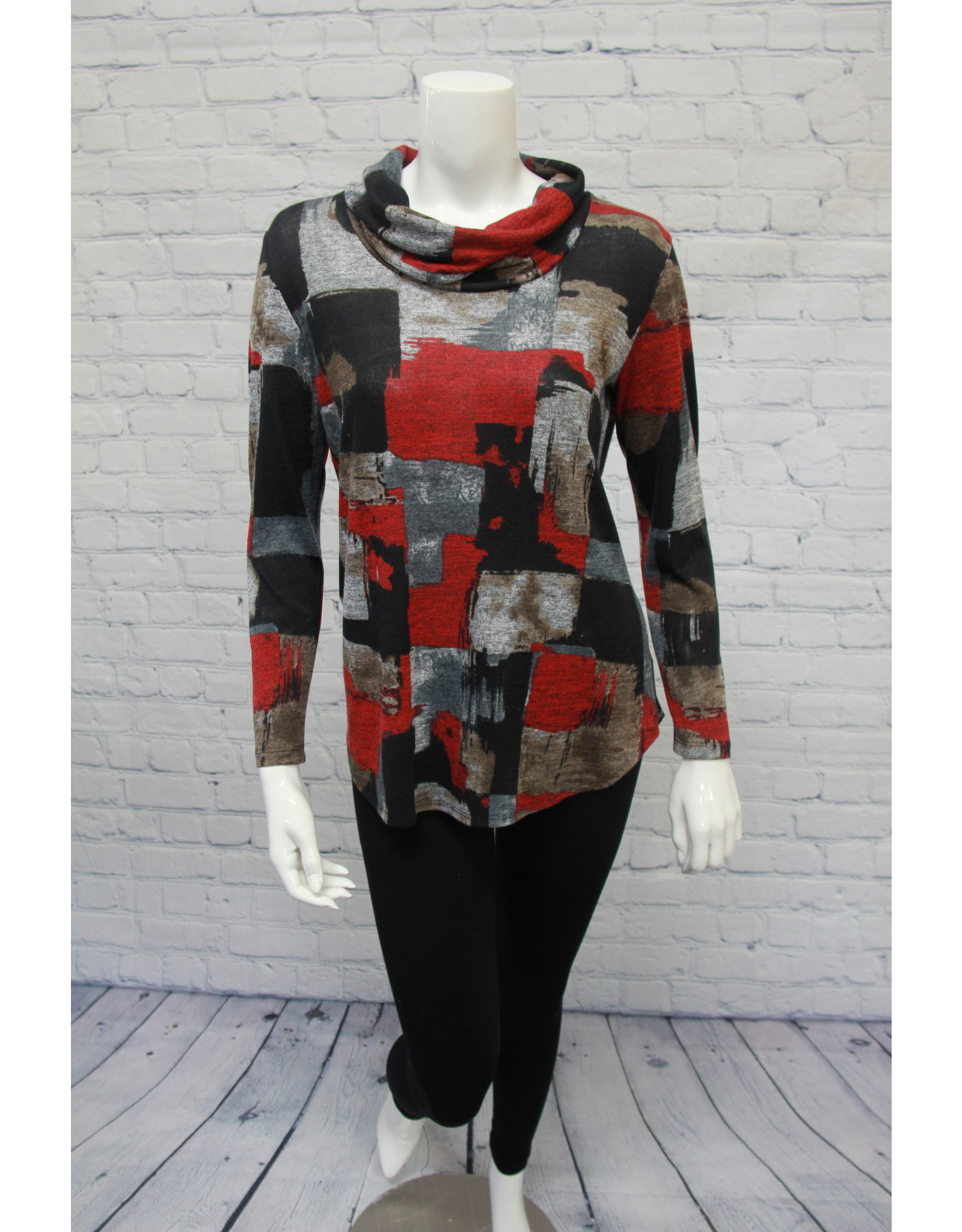 Soft Works Red/Grey Tunic