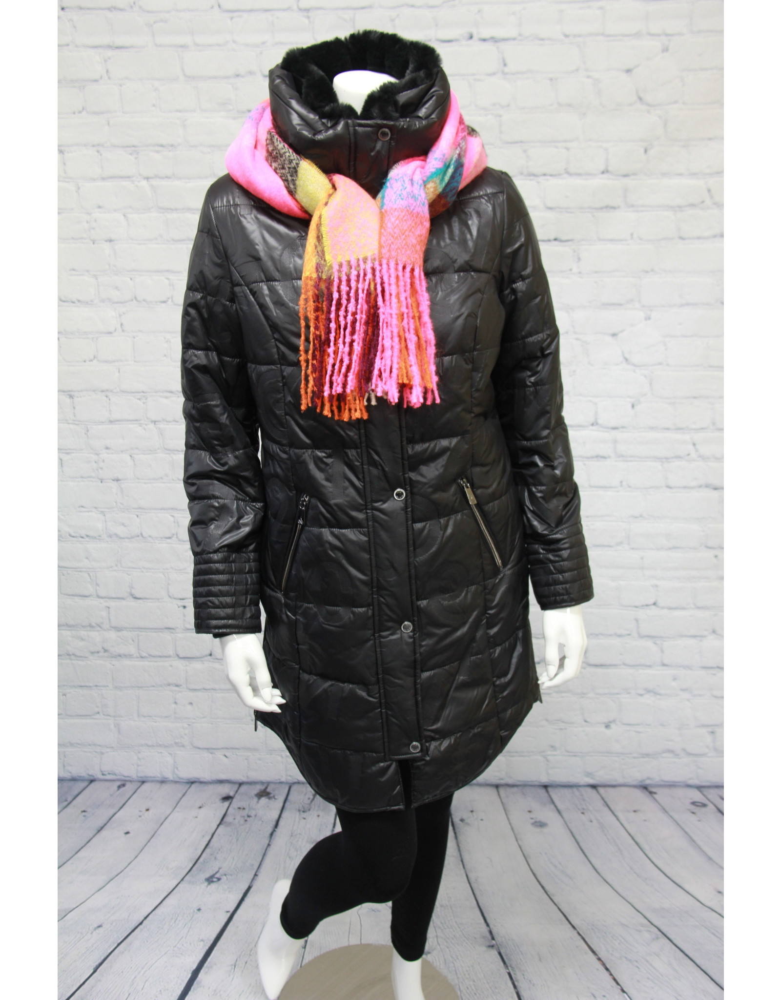 Junge Coat with Removable Fur Trim