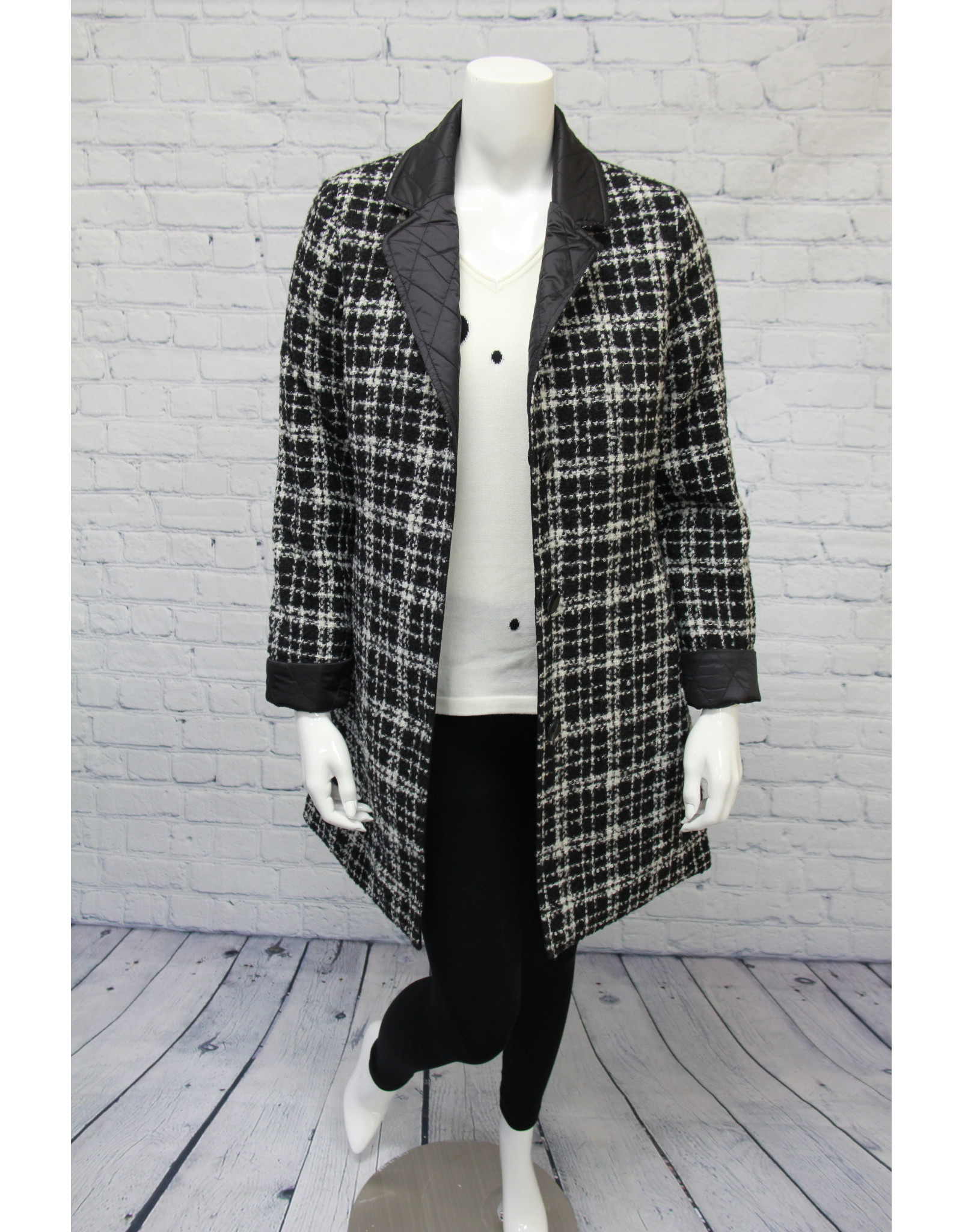 Junge Reversible Plaid Coat